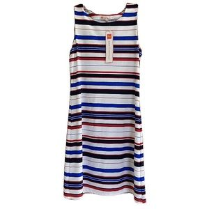 NEW Jude Connally Beth Striped Sleeveless Dress